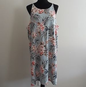 Simply Noelle Halter Top Tropical Dress Size XXL
